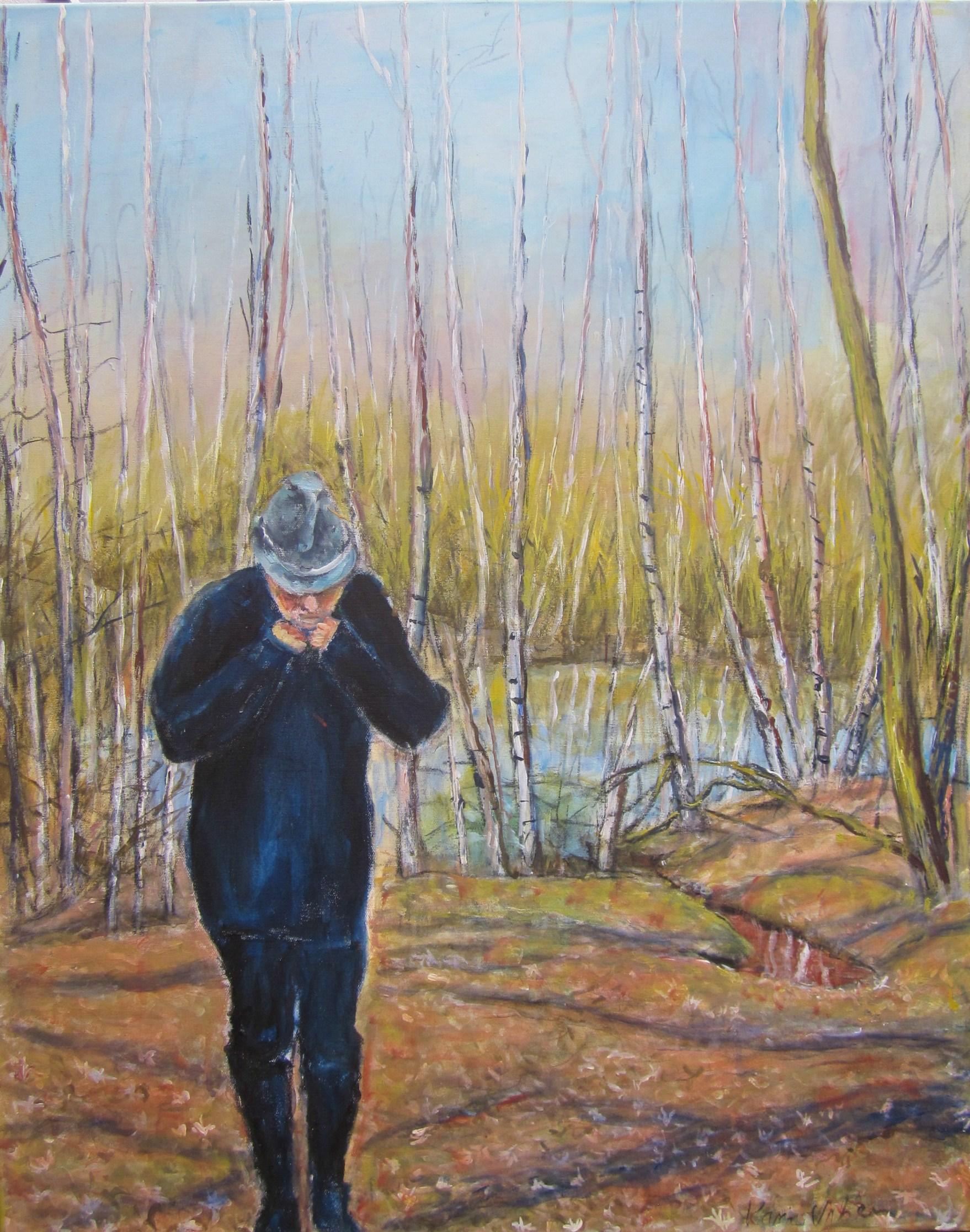 Es ist noch kalt im Winterwald