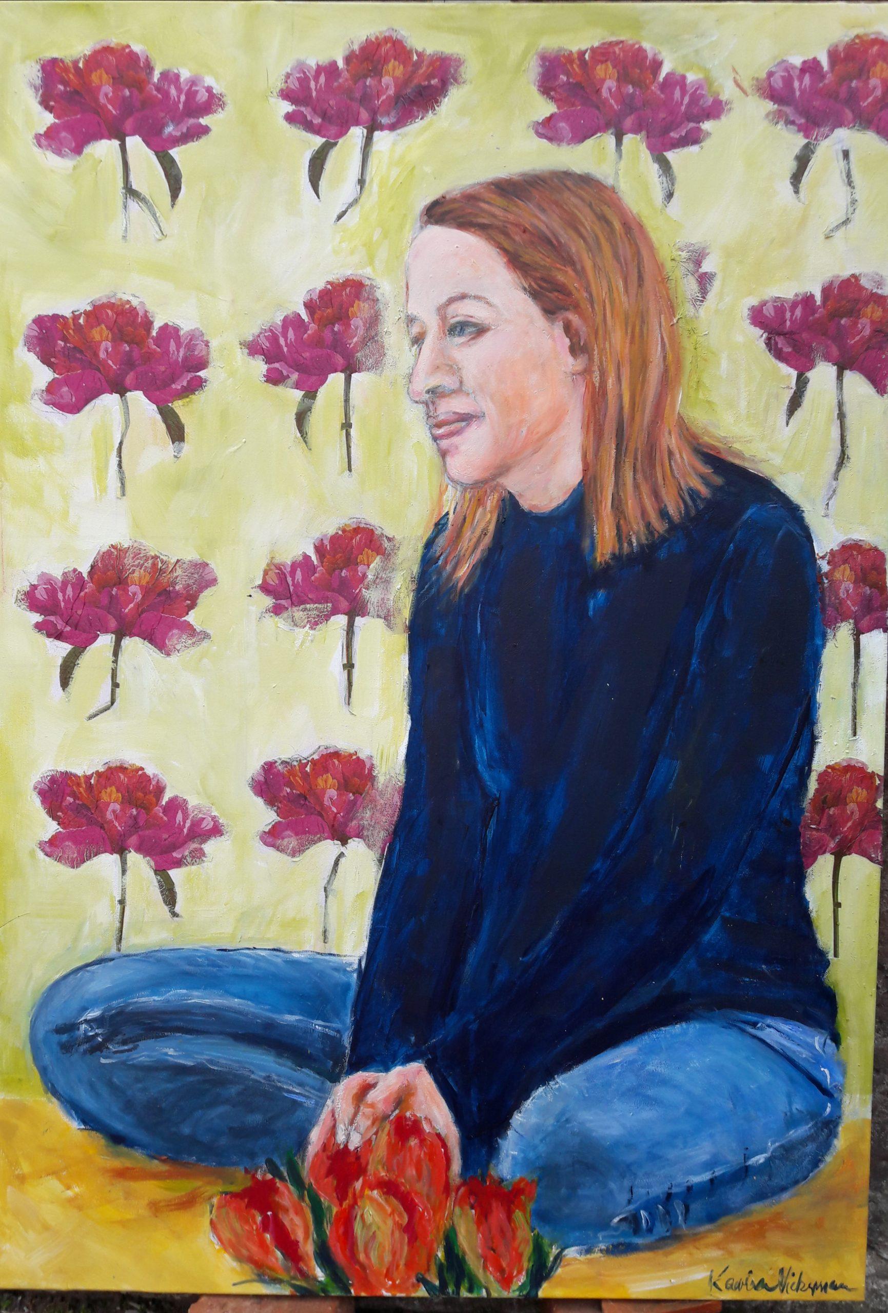 Flowerfrau Acryl/Leinwand 100x80cm