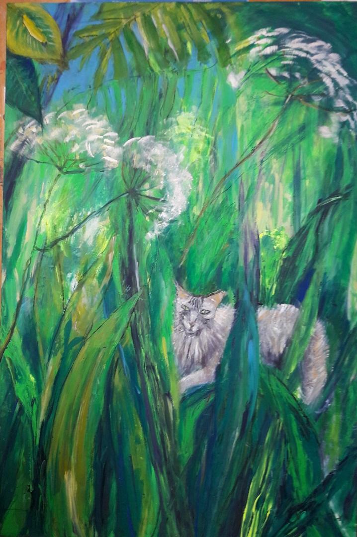 Dschungel I mit Katze
