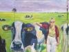 Auf der Weide bei den glücklichen Kühen